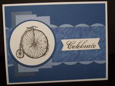 Stampin Up Feeling Sentimental - Bike 1