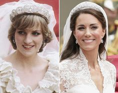 Diana, Princess of Wales and Catherine, Duchess of Cambridge were married almost 30 years apart to the day. Diana on July 29, 1981 and Kate on April 29, 2011.