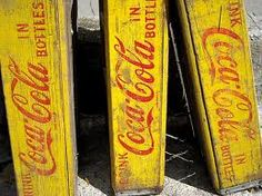 coca cola crates - using distressed method....I'VE GOT SOME FROM MY FATHER'S RESTUARANT.