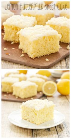 Lemon Buttermilk Sheet Cake packed with zippy lemon flavor and topped with an incredible sugary crunch.