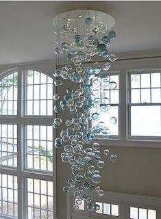bubble chandeliers -- love the colors!