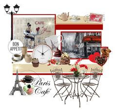 """♥Paris Cafe♥"" by marinadusanic ❤ liked on Polyvore featuring interior, interiors, interior design, home, home decor, interior decorating, Gama Sonic, Sur La Table, WALL and Georg Jensen"