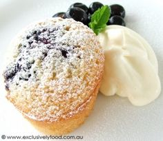 Exclusively Food: Blueberry Friand Recipe