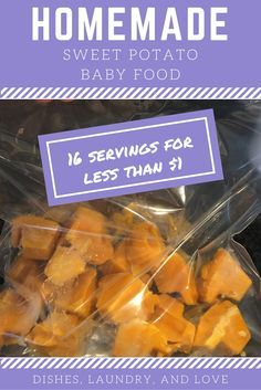 Dishes, Laundry, and Love: How to Make Homemade Sweet Potato Baby Food (16 servings for less than $1)
