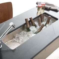 Consider chilling individual sized bottles of champagne in the basin of Rio Chico Bar/Prep Sink.