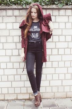 Little red riding hood (by Juule Kay) http://lookbook.nu/look/3782739-little-red-riding-hood