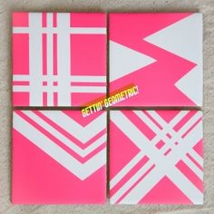 Coasters made out of basic tiles! Perfect for Summer Parties!!
