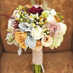 Stunning fall bouquet - Fall 2015- Pantone Color Report: Oak Buff | letterpress wedding invitation blog