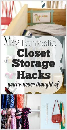 Solve+all+your+closet+storage+problems+with+these+fantastic+hacks.+via+@creatingmyhappy