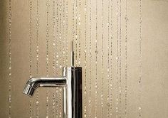 Bathroom Tiles with Crystals, Luxurious Modern Wall Decoration