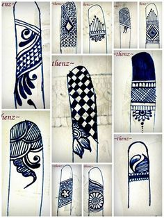 Finger tip designs for free styling henna