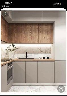 Simple Kitchen Design, Kitchen Room Design, Kitchen Cabinet Design, Home Decor Kitchen, Interior Design Kitchen, Home Kitchens, Pantry Design, Apartment Interior Design, Minimalist Kitchen
