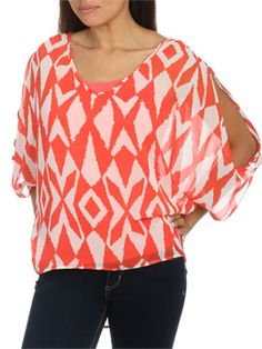 Geo Tribal Print Top from ArdenB.com