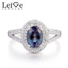 9493703ee8 Leige Jewelry June Birthstone Lab Alexandrite Wedding Ring Halo Ring ...
