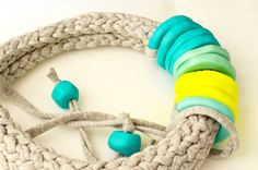 SALE Funky Necklace Chunky Necklace Colorful Necklace by IKKX