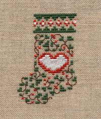 Mini Stocking , Christmas cross stitch, http://www.kreinik.com/PDF/mini_stocking.pdf