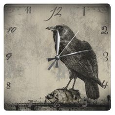 Crow clock too cool
