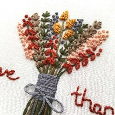 Crewel Embroidery Patterns Thanksgiving Hand Embroidery Pattern DIY Hoop Art Give Hardanger Embroidery, Hand Embroidery Stitches, Learn Embroidery, Silk Ribbon Embroidery, Embroidery For Beginners, Hand Embroidery Designs, Vintage Embroidery, Embroidery Kits, Machine Embroidery