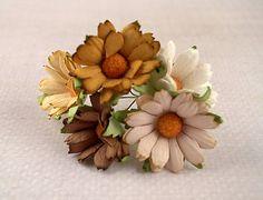 papierové kvietky chrysanthemums