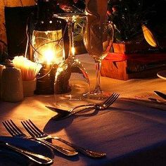 Nothing kills a romantic dinner faster than glaring lights. The soft flicker of a candle or a lantern plays to our moods, giving the scene just the right amount of intriguing glow.