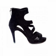 Dare Black Stiletto In Suede - Comfortable High Heels - Sargossa Comfortable High Heels, Black Stilettos, Side Cuts, Dares, Black Suede, Open Toe, Zip Ups, Running, Elegant