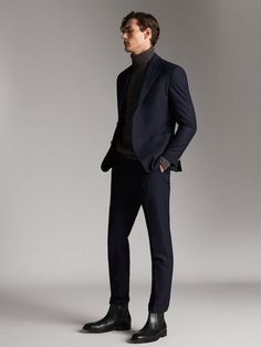 Men Formal, Formal Wear, Outfit Vestidos, Blazer Outfits Men, Turtle Neck Men, Suit Fashion, Emo Fashion, Mens Clothing Styles, Aesthetic Clothes
