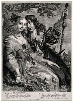 Jeremias Falck, The Four Seasons - Le Printemps, 1639-45