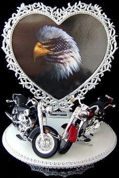 Harley Davidson Wedding Cake Topper 9