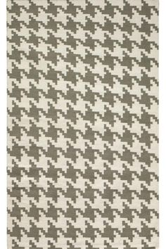 Houndstooth Area Rug - Wool Rugs - Contemporary Rugs - Rugs | HomeDecorators.com