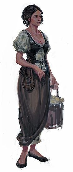 f Maid npc townsperson villager Arika Avertin, Sandpoint Savories High Fantasy, Fantasy Women, Fantasy Rpg, Medieval Fantasy, Dnd Characters, Fantasy Characters, Female Characters, Character Creation, Character Concept