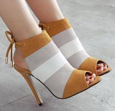 Slingback Fashion Women Peep Toe High Heels Shoes Slingback Fashion Damen Peep Toe High Heels Schuhe This image has. High Heel Pumps, Pumps Heels, Stiletto Heels, High Shoes, Heeled Sandals, Sandals Outfit, Tan High Heels, Heels Outfits, Shoes Sandals
