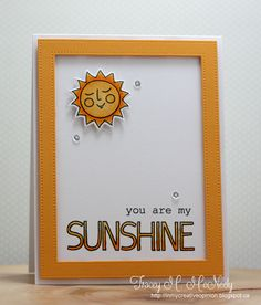 You Are My Sunshine for the 30 Day Coloring Challenge - Day 27