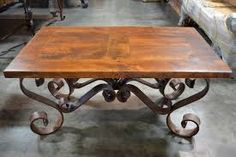 Image result for wrought iron leg coffee tables