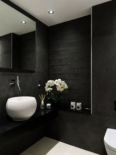 Is your home in need of a bathroom remodel? Give your bathroom design a boost with a little planning and our inspirational 65 Most Popular Small Bathroom Remodel Ideas on a Budget in 2018 Grey Bathroom Interior, Modern Bathroom Design, Bathroom Designs, Contemporary Bathrooms, Shower Designs, Contemporary Style, Bad Inspiration, Bathroom Inspiration, Guest Bathroom Remodel