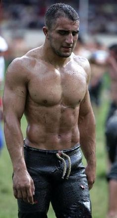 Turkish Oil Wrestling,  Sexy Men, Male Athletes, Muscle, Wrestlers.