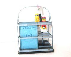 Industrial Metal Caddy Vintage Storage Display Tool by ElmPlace, $45.00