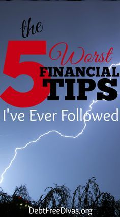 Following bad financial advice can set you back a decade or more and take a bite out of your ability to build wealth. Here's my top 5 worst tips.
