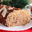 """Бисквитный рулет с шоколадным кремом """"Полено"""" - кулинарный рецепт"""