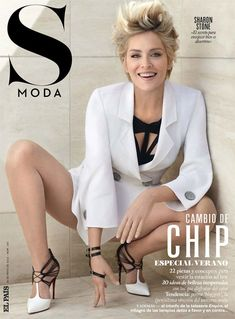 Magazine photos featuring Sharon Stone on the cover. Sharon Stone magazine cover photos, back issues and newstand editions. Beautiful Celebrities, Beautiful Actresses, Gorgeous Women, Sharon Stone Hairstyles, Sharon Stone Short Hair, Sharon Stone Photos, Stone Pictures, Hollywood, American Actress