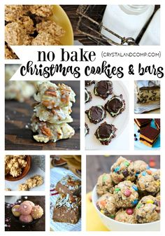 27 no bake Christmas cookies and bars that make perfect gifts and delicious holiday treats your family will enjoy making with you!