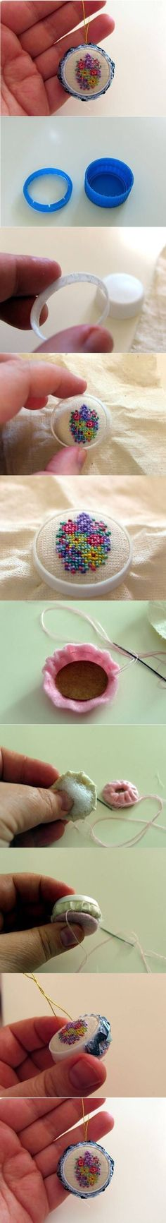 how to make small crochet wall handing for dollhouse
