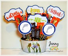 Crazy About Cricut: Candy Bouquet Teacher Gift with Miss Kate Cuttables