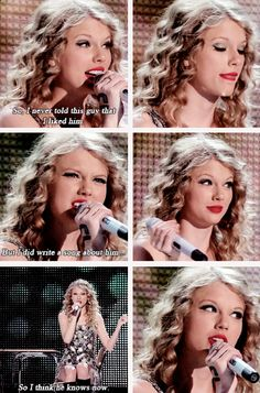 Taylor introducing Teardrops On My Guitar during the Fearless Tour (gifset: http://youtaughtmeaboutyourpast.tumblr.com/post/97686021877/taylorswift)