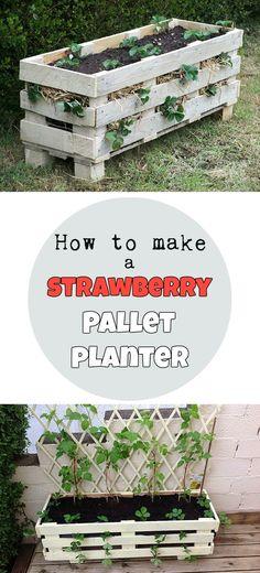 How to make a strawberry pallet planter @ GardaHolic.com