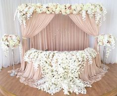 Floating Chiffon Table Skirt with extra length, Long Chiffon Table Skirt, Floating Chiffon Tablecloth, Table Skirt Wedding Stage, Wedding Ceremony, Our Wedding, Dream Wedding, Chic Wedding, Wedding Tables, Ivory Wedding, Outdoor Ceremony, Wedding Couples