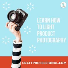 How to light product photography. Everything a beginner needs to take a well-lit product photograph in a home studio. Plus three ways to set up your lighting. #productphotography #craftbusiness #sellingonetsy #craftprofessional Photography Lighting Setup, Lighting Setups, Types Of Lighting, Light Photography, Cool Lighting, Selling Crafts Online, Craft Online, Continuous Lighting, Photography Lessons