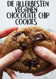 Rezept: vegane Chocolate Chips Cookies, ohne Ei, Butter oder Milch