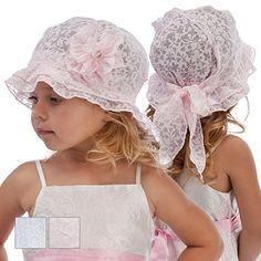 Filles Chapeau de soleil Plage Vacances Été Bonnet Casquette Taille 69121824mois 2-3ans rose 18-24 months 50cm