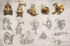 Steampunk drawings