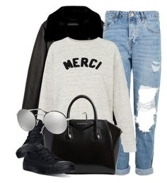 """Merci"" by smartbuyglasses-uk ❤ liked on Polyvore featuring Jakke, Topshop, Whistles, Converse, Givenchy, Prada and casual"
